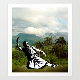 When in paradise Art Print