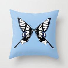 Mirror Butterfly Throw Pillow