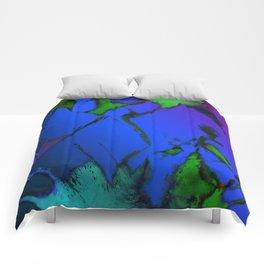 Colliding panels blue Comforters