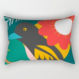 Broadbill and luxuriant vegetation Rectangular Pillow