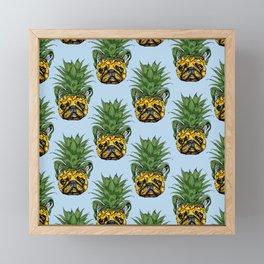 Pineapple French Bulldog Framed Mini Art Print