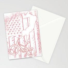 American flag BMX rider vintage patriot Stationery Cards