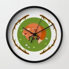 sleeping mr fox Wall Clock