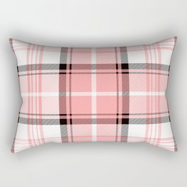 Pink Tartan Rectangular Pillow