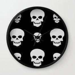 Halloween Skull Pattern Wall Clock