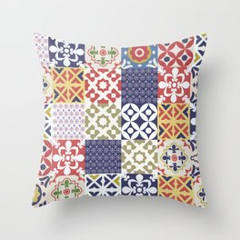 Portuguese pattern color Throw Pillow