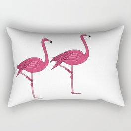 Felicty the flamingo Rectangular Pillow