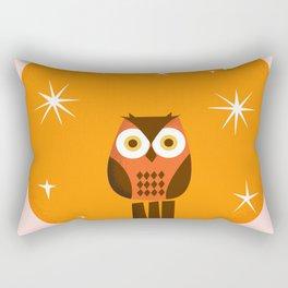 Owl on a Fence Rectangular Pillow