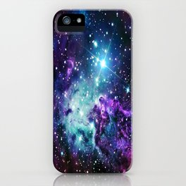 Fox Fur Nebula : Purple Teal Galaxy iPhone Case