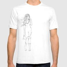 Lady in Wait MEDIUM White Mens Fitted Tee