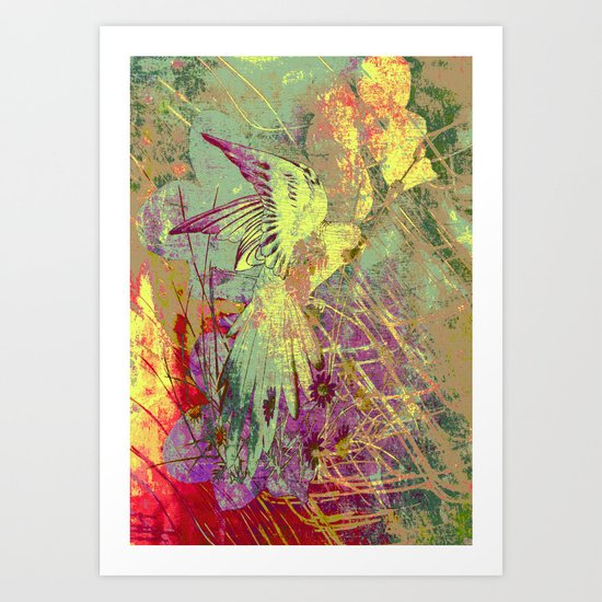 Parrot. On Front Page. Art Print