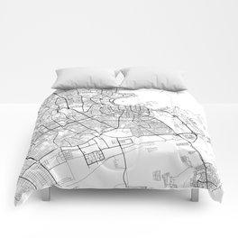 Doha Map White Comforters