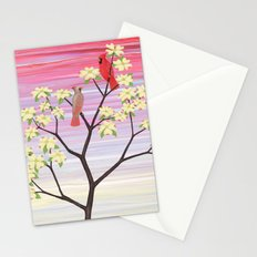 cardinals and dogwood blossoms Stationery Cards