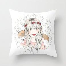 Fox Dreams Throw Pillow