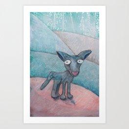 Superdog Art Print