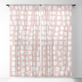 Dots / Pink Sheer Curtain