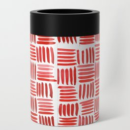 Red Parquet Can Cooler