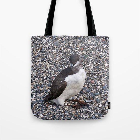 Razorbill Walking on the Beach Tote Bag