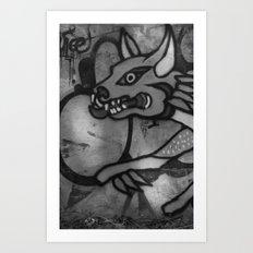 Garuda Dog Art Print