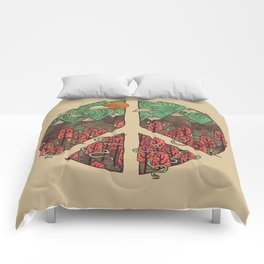 Peaceful Landscape Comforters