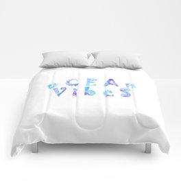 oCEAn VibeS | Tropical Cyan Teal & Magenta Watercolor Comforters