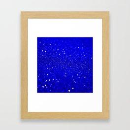 Bright Blue Glitter Framed Art Print
