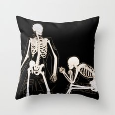 Eruri: Twin Skeletons Throw Pillow