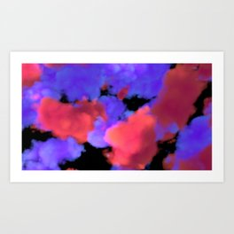 Neon Clouds Art Print