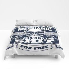 MECHANIC QUOTE Comforters
