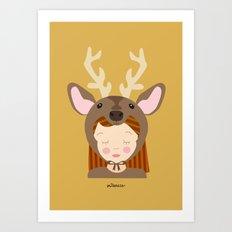 Like a deer.. Art Print