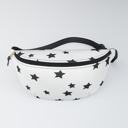 Black and White Stars Fanny Pack