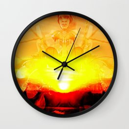 Drumming Until the Sun Comes UP Wall Clock