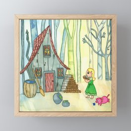 House of Hansel and Gretel Framed Mini Art Print