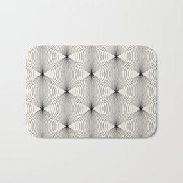 Geometric Orb Pattern - Black Bath Mat