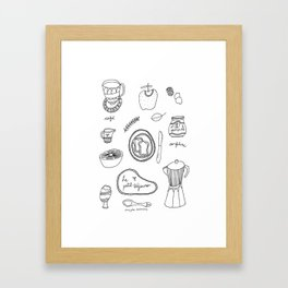 Le petit-déjeuner Framed Art Print