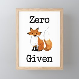 Zero Fox Given Framed Mini Art Print