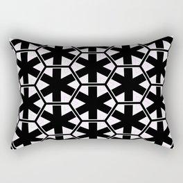Multi Pattern Black and White Design Rectangular Pillow