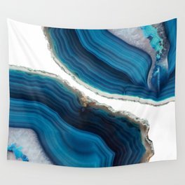 Blue Agate Wall Tapestry