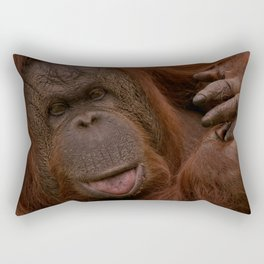 Orangutan Close-Up Rectangular Pillow