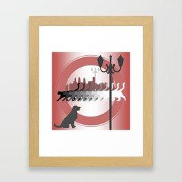 My Little Friends Framed Art Print