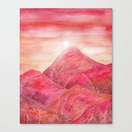 Lines in the mountains XXIII Canvas Print