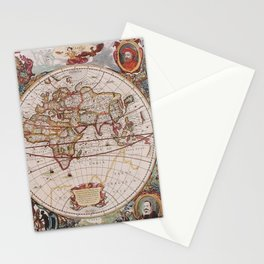 Old Map, All Country Pattern, Map Educational Stationery Cards