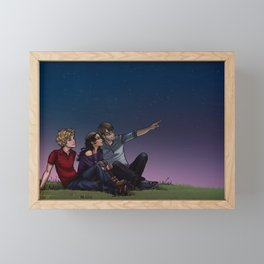 Stargazing Framed Mini Art Print