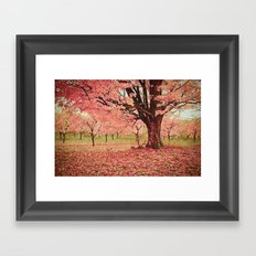 Wind and Leaves Framed Art Print