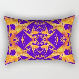 Bird of Paradise Fractal Floral Mandala Rectangular Pillow