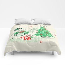 Vintage Snowman Comforters