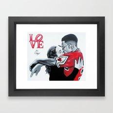 Black Love- Dwayne & Whitley Framed Art Print