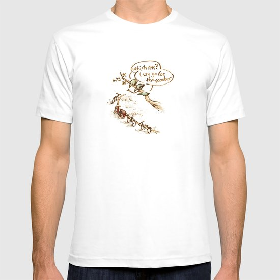 Pigeons and a scooter T-shirt