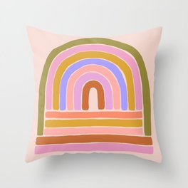rainbow : of the heart Throw Pillow