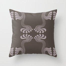 Art Nouveau Paisley Throw Pillow